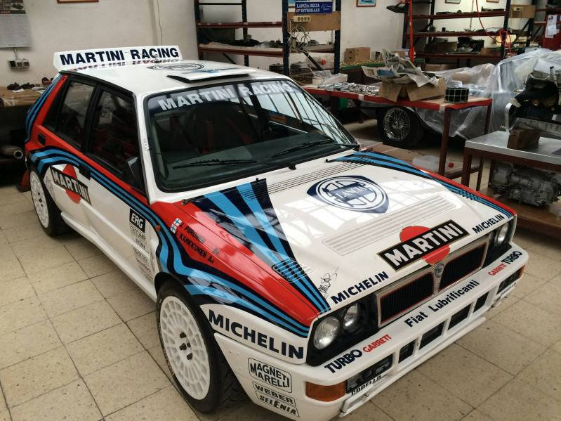 Preparando lancia rally car
