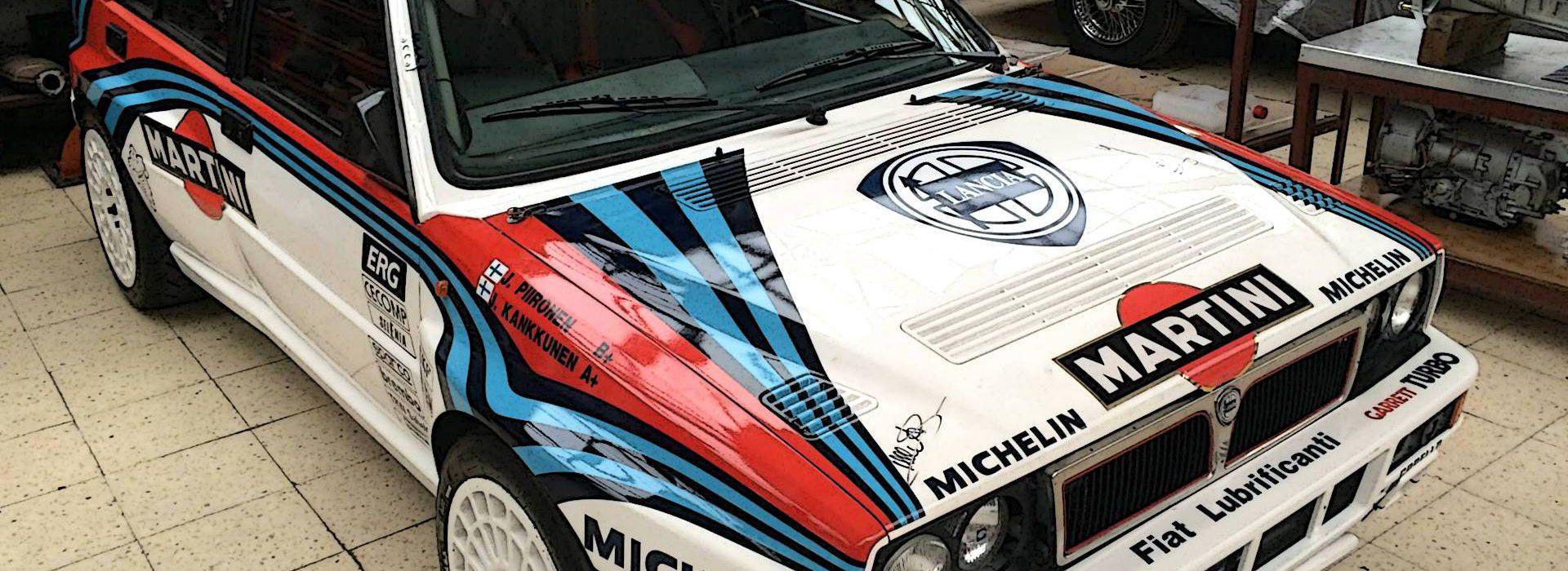 preparación coche lancia rally