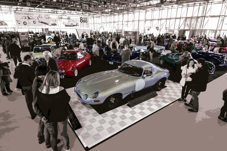 Réplica del Jaguar Low Drag en Stand del ClassicAuto